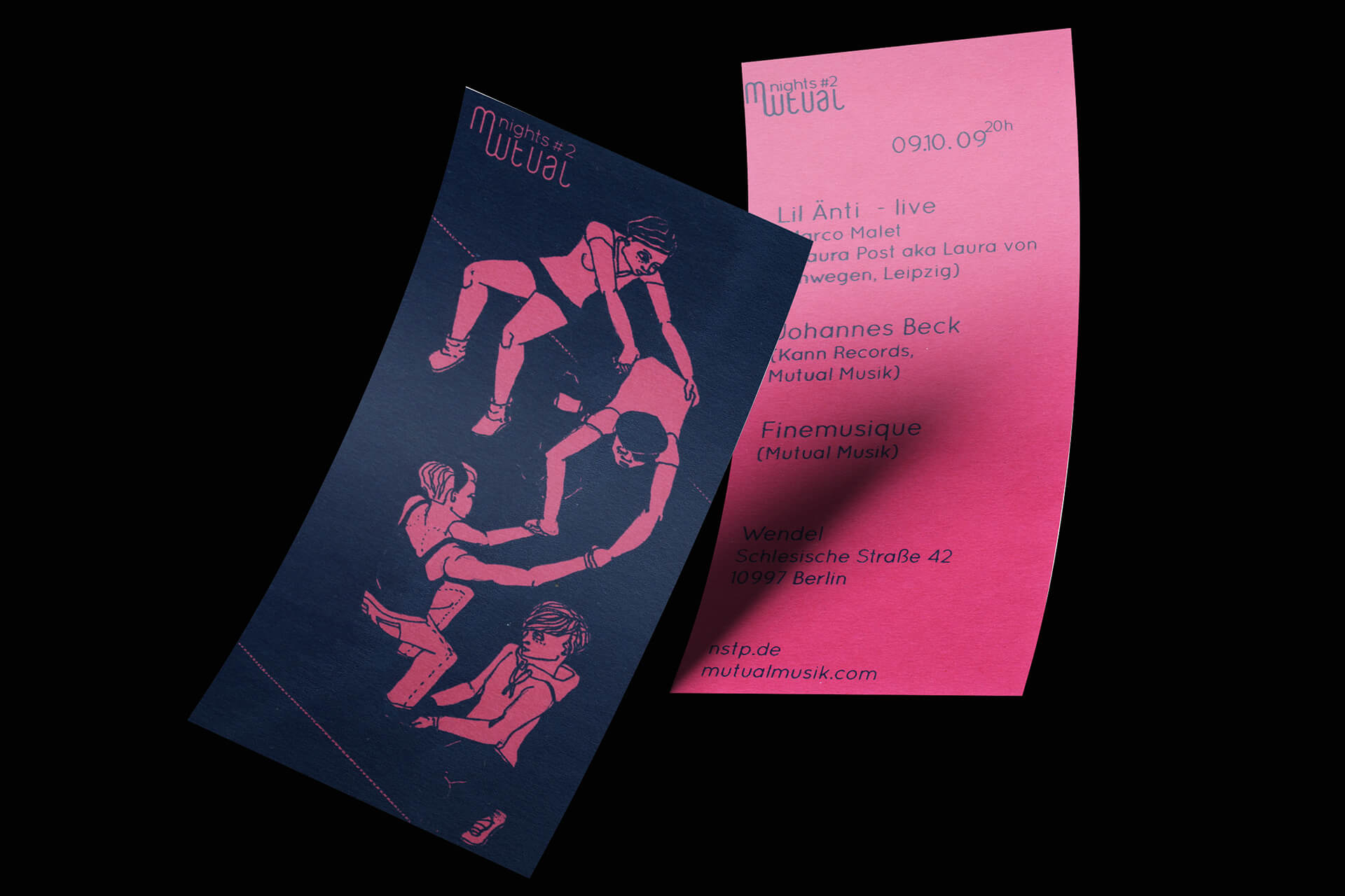 Denken & Handeln, Mutual Musik, Fine Heininger, Plattenlabel, Flyer Gestaltung, Illustration, Berlin, Musik Label, CI, Corporate Identity, Visuelle Identität