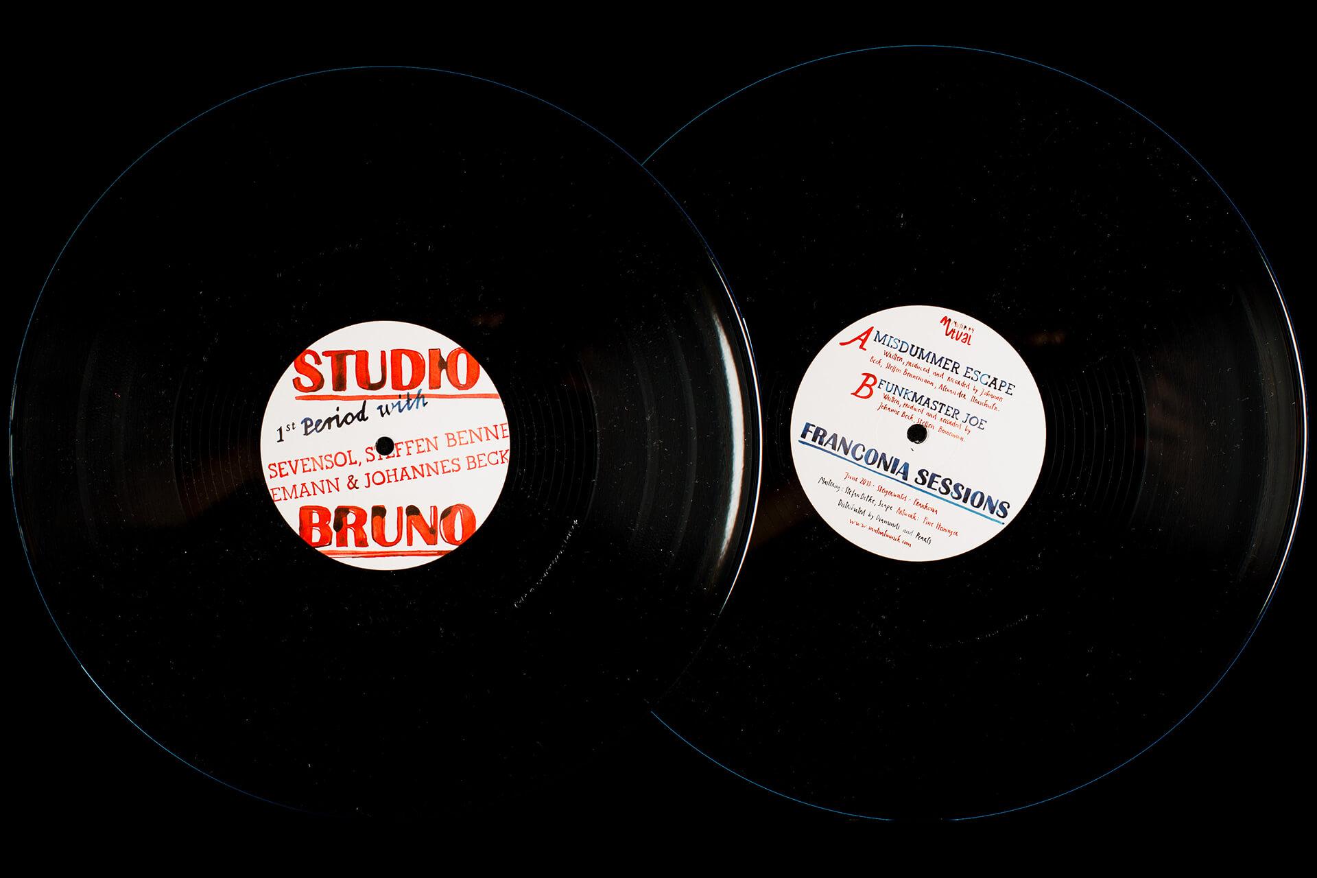 Denken & Handeln, Mutual Musik, Fine Heininger, Plattenlabel, Platten-Cover Gestaltung, EP Cover, Illustration, Berlin, Musik Label, CI, Corporate Identity, Visuelle Identität