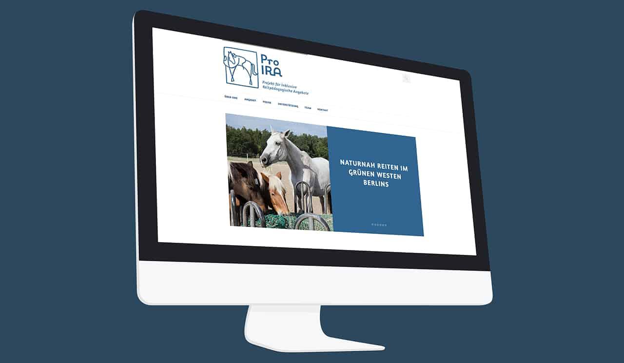 Denken & Handeln   Konzeptagentur für ganzheitliche Gestaltung   Pro Ira e.V.   Webdesign