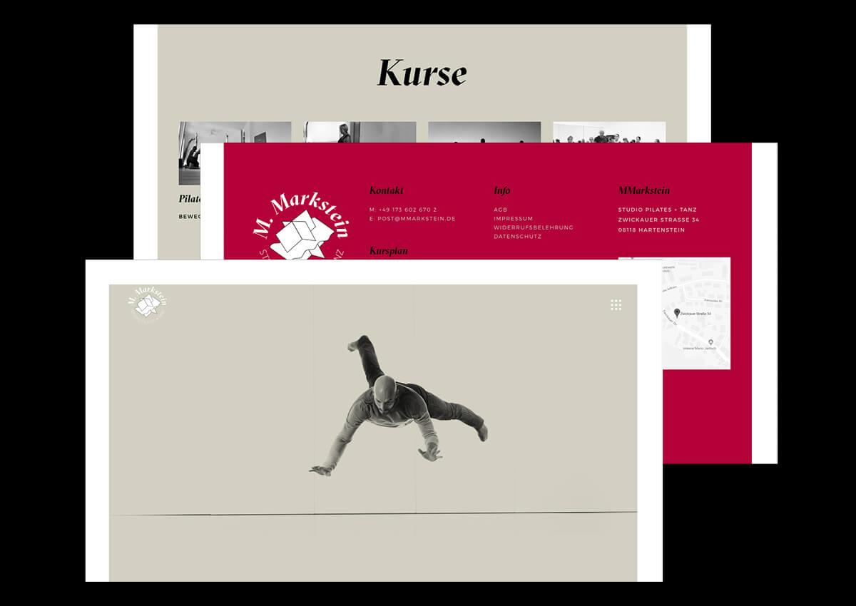 Denken & Handeln Fine Heininger MMarkstein CI Visuelle Identität Logo Geschäftsausstattung Briefpapier Visitenkarte Webseite Flyer