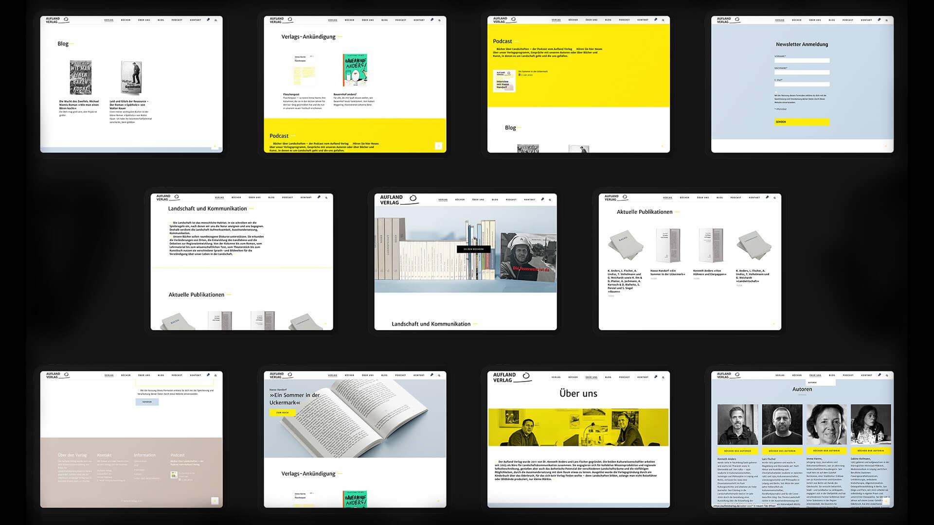 Denken & Handeln, Fine Heininger, Aufland Verlag, auflandverlag.de, Logo, Redesign, UX Design, Screen-Design, Corporate Identity, Visuelle Identität, Grafik Design, Gestaltung, Responsive