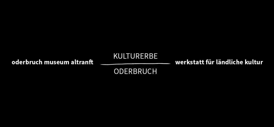 Oderbruch Museum Altranft, Logo, CI, Corporate Identity, Visuelle Identität